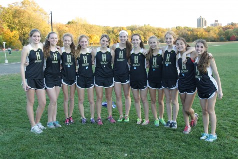 The Girls' Varsity XC team swept the Ivy League Championship titles. Photo by Coach Garfield.