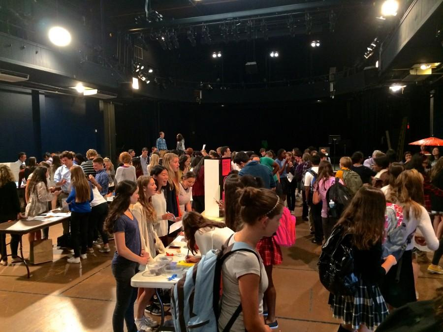 Many student clubs had tables in the PAC during the Club Fair to showcase their clubs.