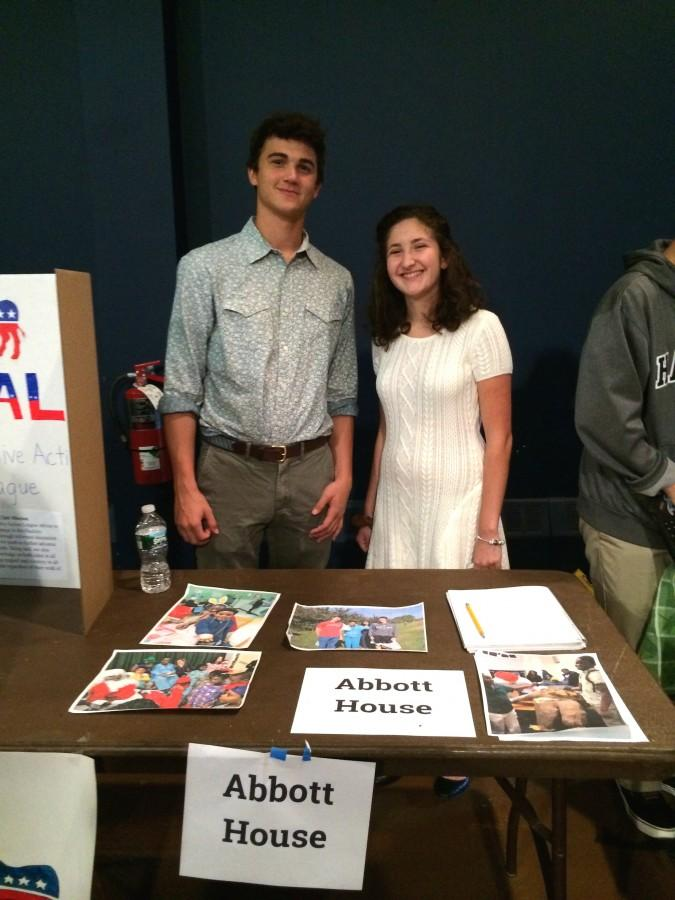Senior Luka Yancopoulos and sophomore Sarah Lucente, the leaders of the Abbott House club.