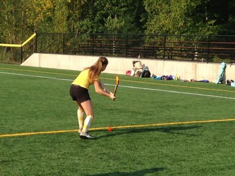 Freshman Karina Bridger winds up in