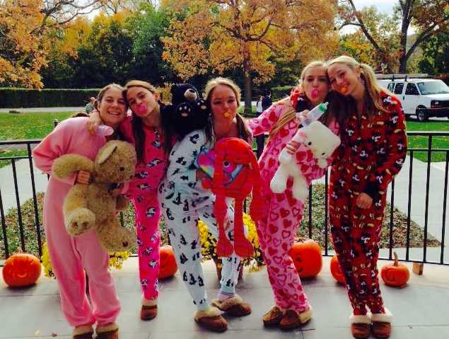Last year's seniors showed lots of creativity in their costumes.