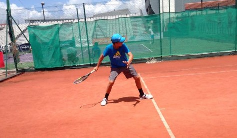 Teddy van Eck perfecting his forehand at IMG Academy last year.