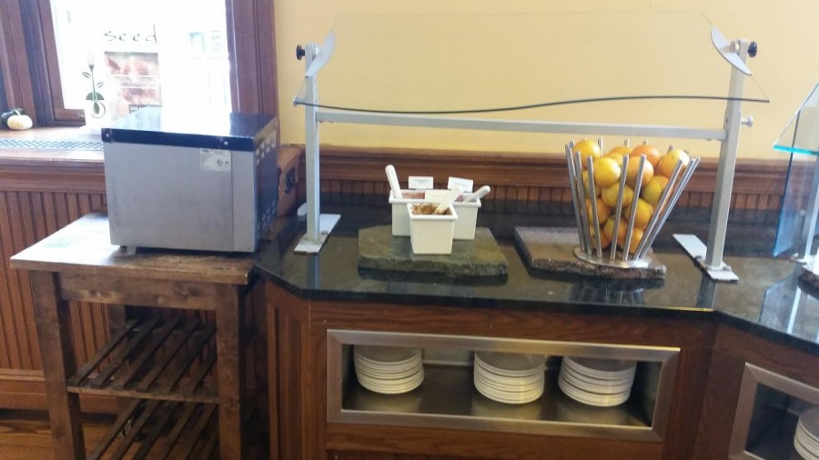 The once-popular PB&J station in the Dining Hall, which now holds sunbutter instead of peanut butter.