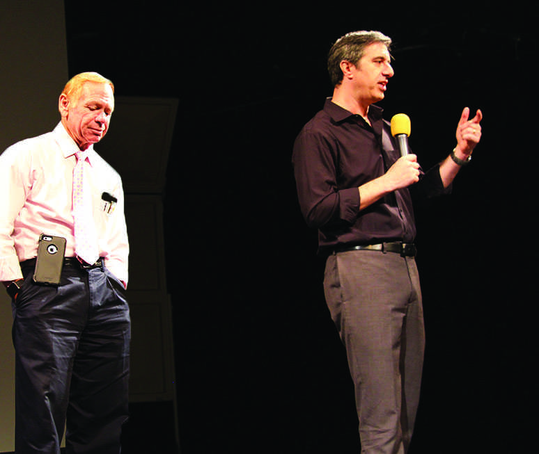 "Journalist Alan Schwarz and neuroscientist Dr. Robert Cantu discuss ""Concussions, Athletics and Kids."""