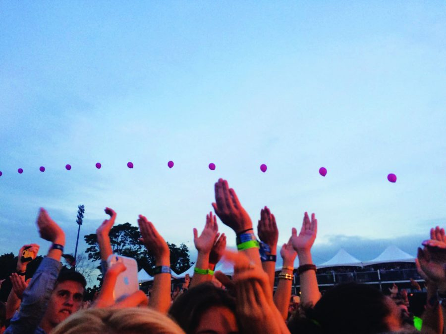 Audience members dance and sing along during Florence and the Machine's performance at Governors Ball last year.