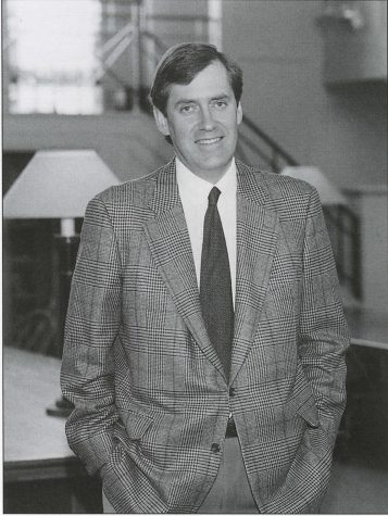 Mr. Johnson in The Hackley Review of 1996, after his first year as headmaster.