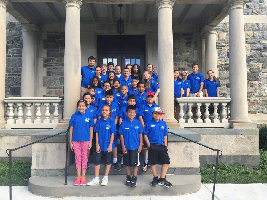 The Hudson Scholars and Hackley volunteers worked together for two weeks studying English, Math, Community Research, and Drama.