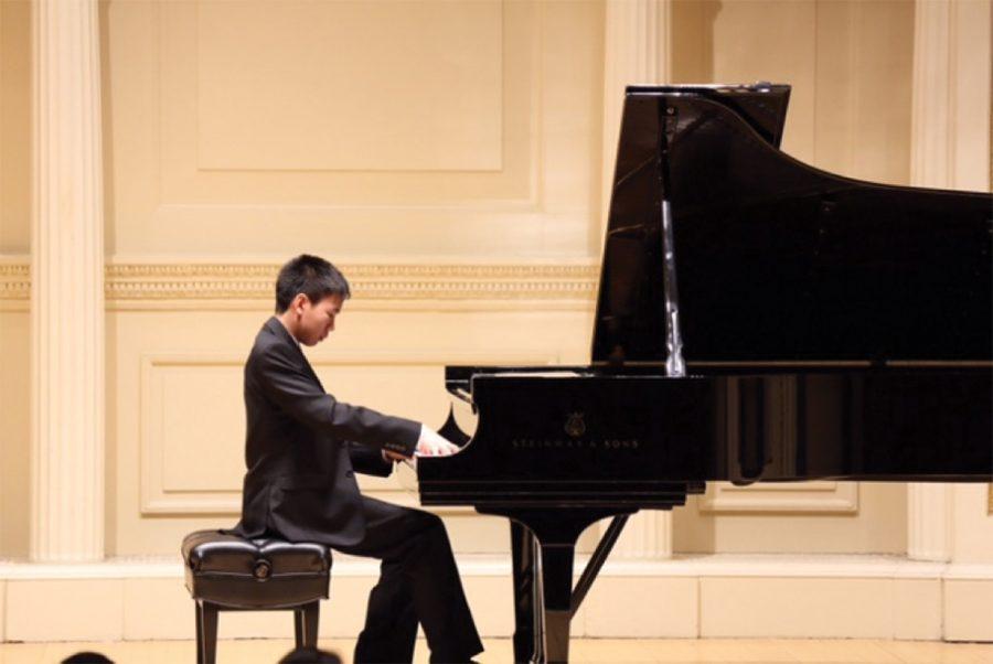 "David Jiang plays ""Chopin's Revolutionary Etude"" at Carnegie Hall on April 24, 2016."