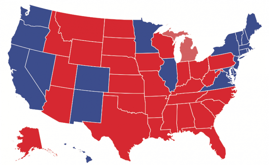 This electoral map shows Donald J. Trump winning the presidency with 290 electoral votes, and Hillary Clinton earning 228 (as of November 14, 2016).