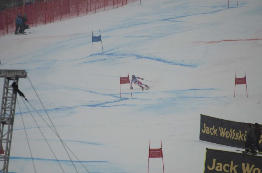 Skier Mikaela Shiffrin competes in the Slalom at the Eastern World Cup on Killington Mountain.