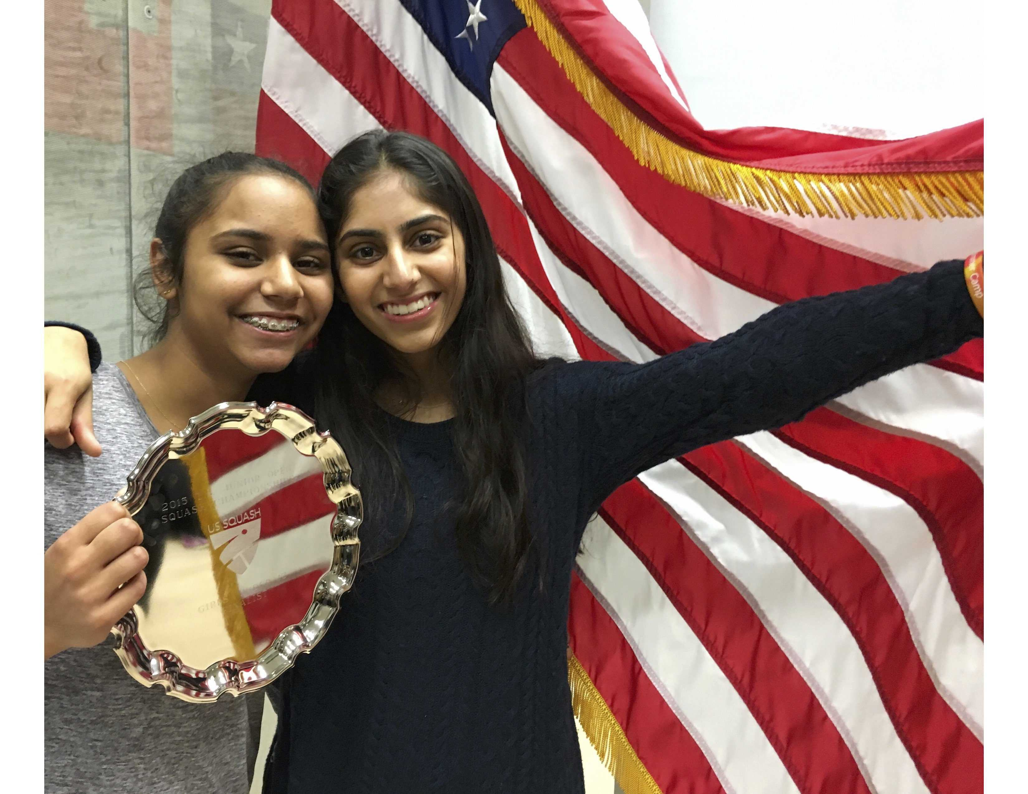 Riya and Nina compete in the U.S. Junior Open.