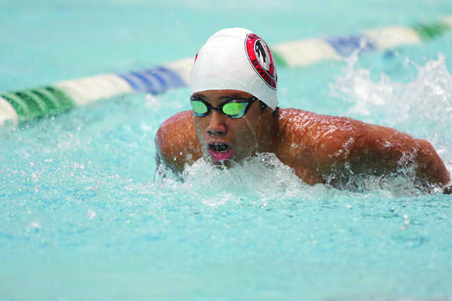 Yugo competes in the Individual Medley.