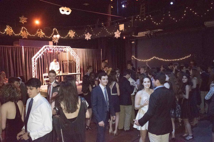Upper School students dance at the Snowball while senior DJ Seth Tilliss plays the latest hits. Seth Tillis served as the DJ for the past two years, making the 2017 Snowball his final debut.