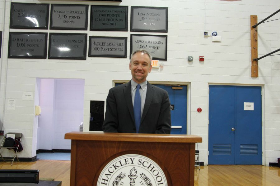 Drew Jones, co-founder and co-director of Climate Interactive, encourages students to take action on climate change.