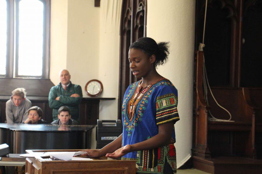 Ivie delivers her Chapel Talk.