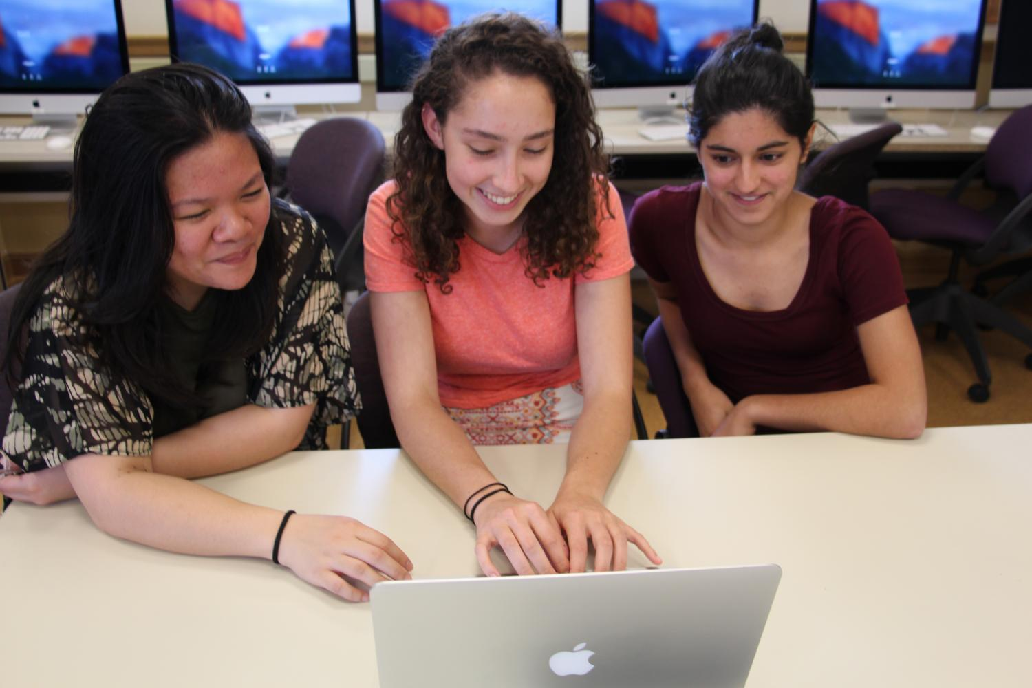 New Editors-in-Chief, Lei Anne Rabeje and Olivia Weinberg, and Online Editor Alexi Sandhu prepare for their first issue in leadership positions.