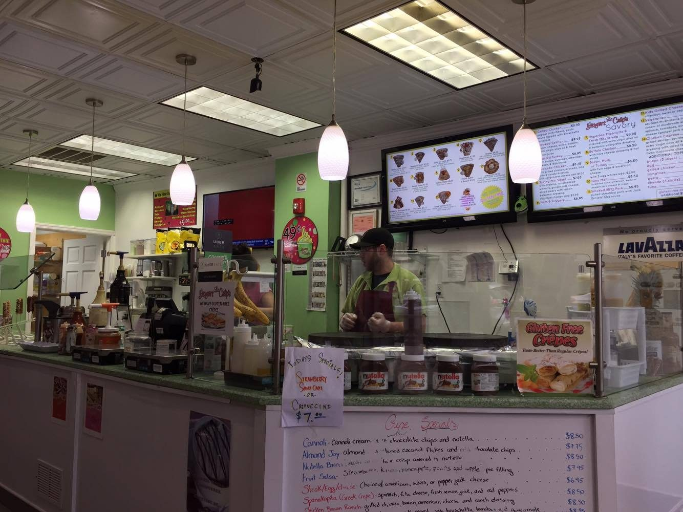 Local crepe shop serves students after a long day at school. Yogurt Le Crepe has been in business for 5 years.
