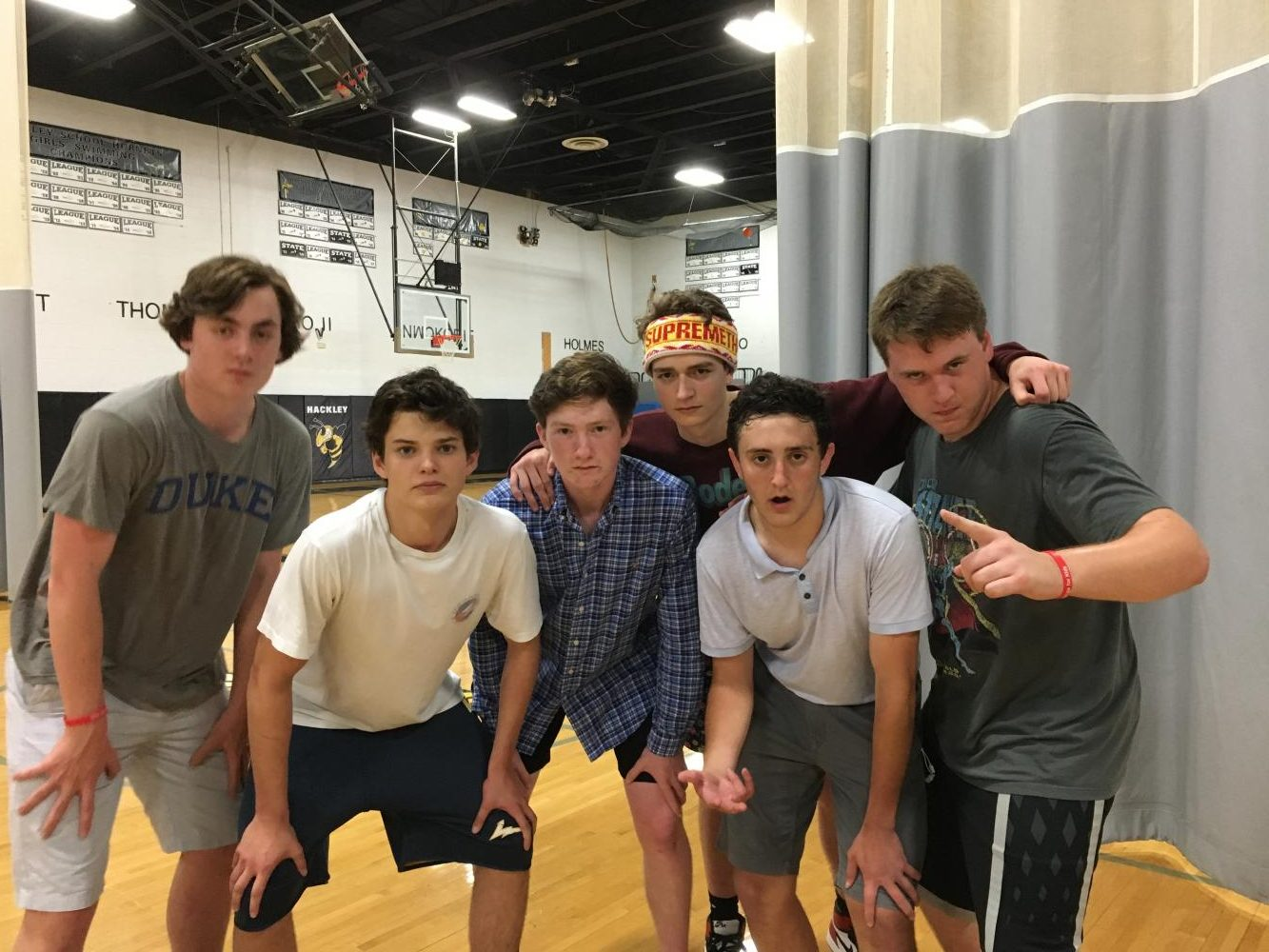 Junior+Silas+Lenihan+leads+his+team+to+victory+during+the+P.S.+81+Dodgeball+Tournament.