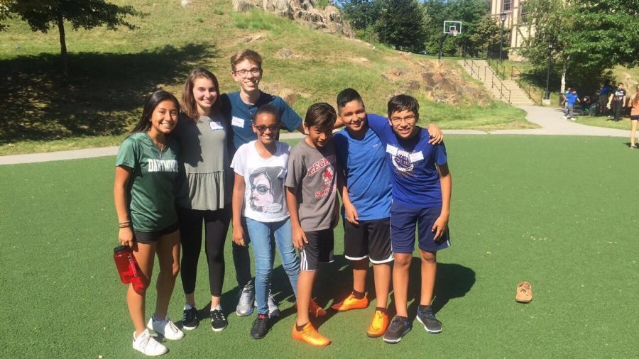 Amy Chalan, Ella Zaslow, and Robert Patterson volunteered a part of their summer to work with the Hudson Scholars Program.