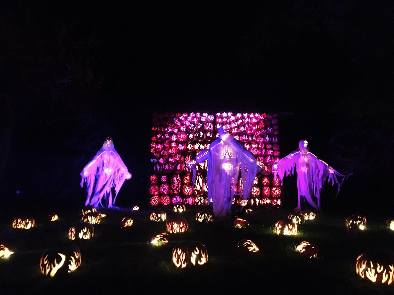 The famous Pumpkin Blaze at Van Cortlandt Manor in Croton-on-Hudson attracts thousands of visitors every fall season.