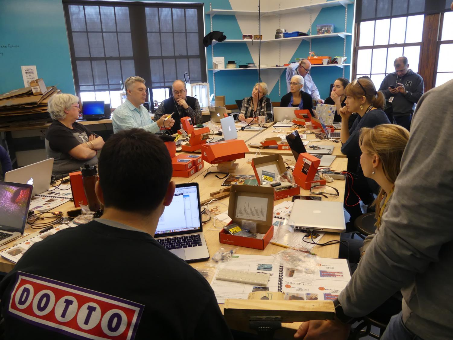 Hackley Teachers are currently going through Professional Development courses before the space opens where they learn to use the materials and tools in hopes of incorporating them into their curriculum.