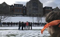 Hackley School students host a walkout in conjunction with schools nationwide