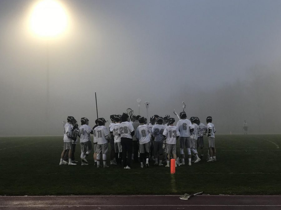 Boys Lacrosse faced off against Trinity on Pickert Field. Despite the unpleasant weather conditions, many fans attended the game. And the boys decisively defeated Trinity in a high-scoring affair.