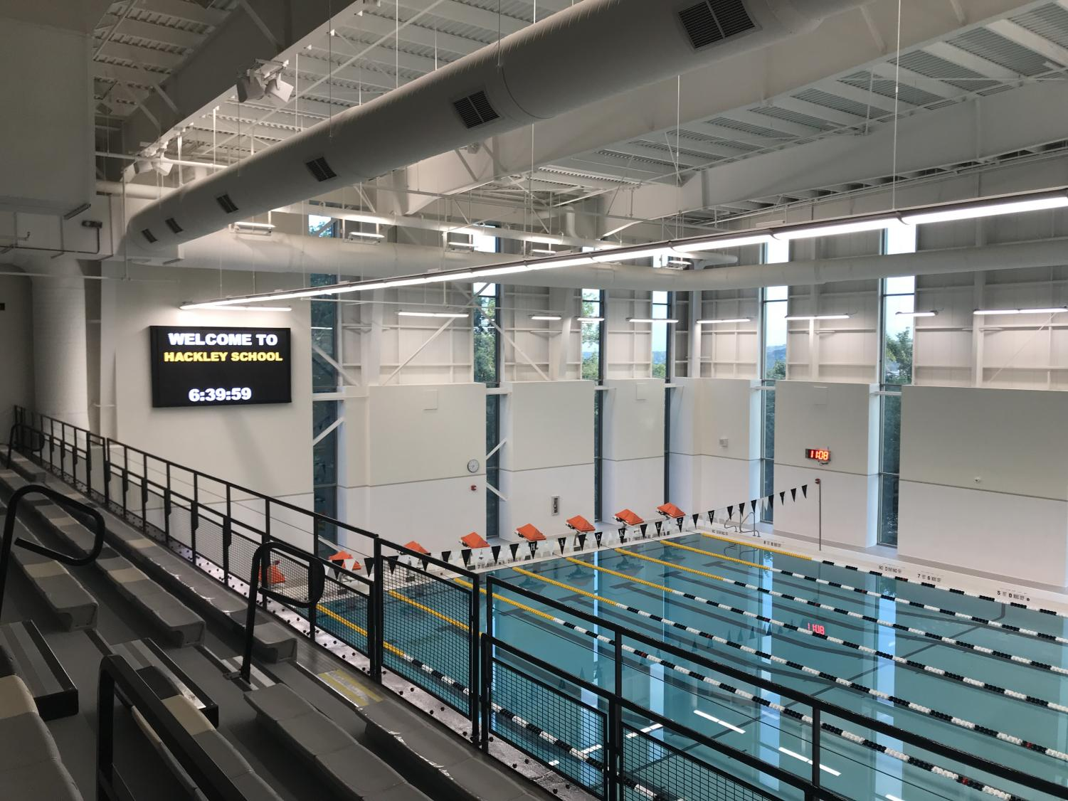Despite the fact that the Johnson Center for Health and Wellness was completed last January, the pool for the new facility remained under construction this past year.
