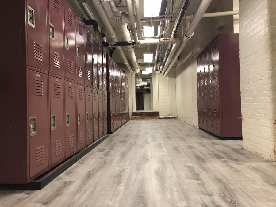 The carpet of the freshman hallway has been replaced with a new vinyl planking. Administrators sanctioned the installment of this new flooring over the summer. While the pipes of the hallway still remain, the freshman hallway's new flooring certainly livens up the area.