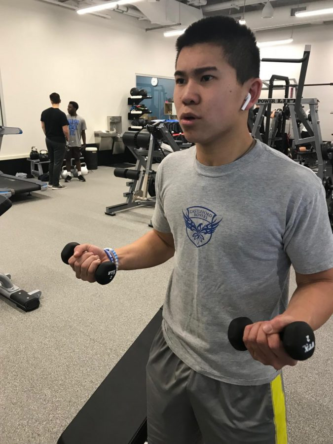 The Johnson Center boasts two separate fitness facilities: a cardio room on the first floor and a weight room in the basement. The separate fitness rooms allow for two different physical education classes, as opposed to the weight room gym class in previous years.