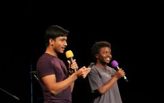 Coffee House hosts Zaya Gooding and Rahat Mahbub held the attention of the audience with jokes. Audience participation was another key component of Gooding and Mahbub's hosting strategy.