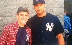 Ryan Ruocco '04 with New York Yankees legend Derek Jeter. Ruocco went on to become a play-by-play annoucer for the Yankees on YES.