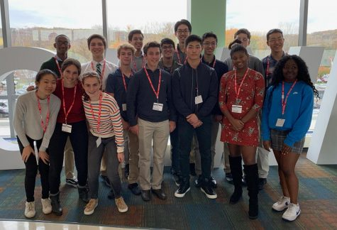 Hackley IRP students took a field trip to Regeneron facilitated by Dr. Yancopoulos, father of four Hackley alumni.