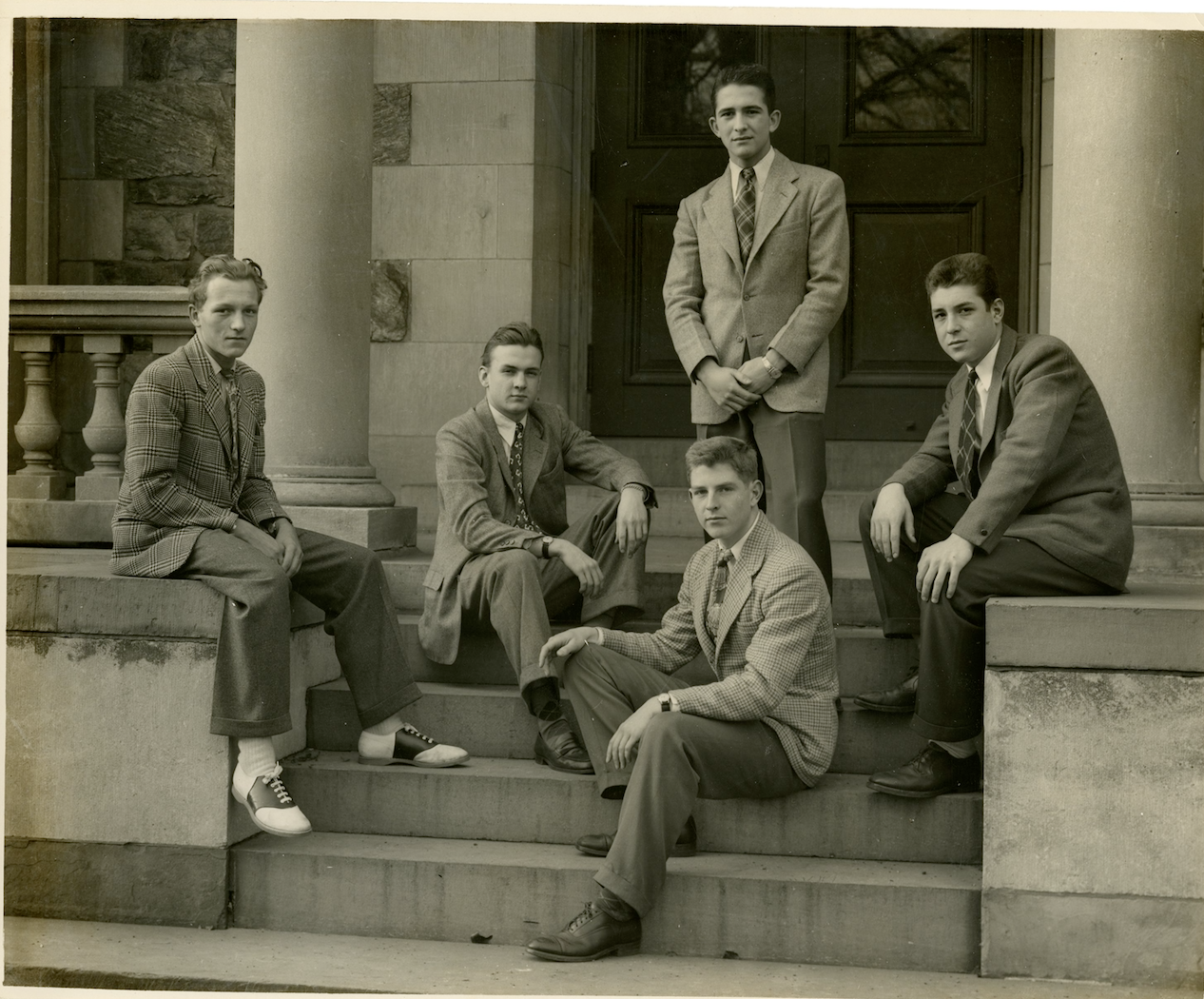 Hackley students dress to impress and pose in this blast from the past.