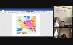 Dionne shares an image of her online History class.
