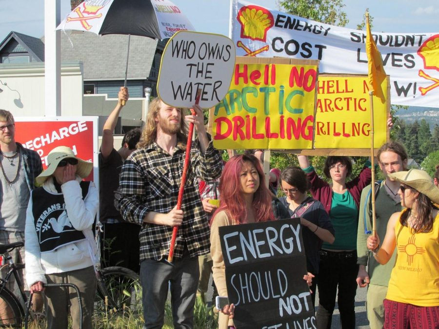 Protest against Arctic drilling in Bellingham, Washington