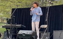 Freshman Harry Rosenthal performs