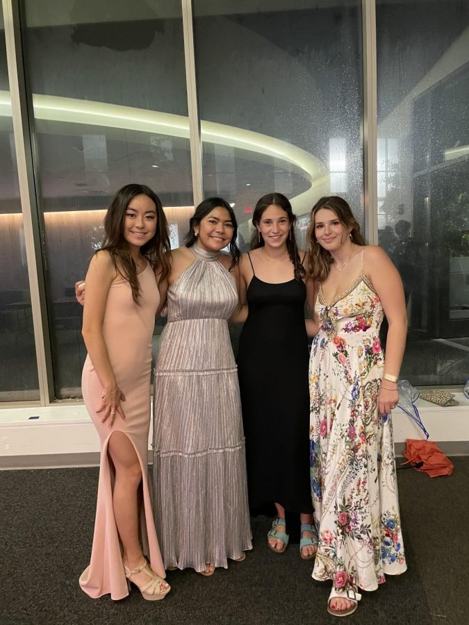 Families were invited to take pictures with the seniors at pre-prom in the Johnson Center. Although this year has posed many COVID-related challenges, weather-related complications have often complicated pre-prom. In 2019, pre-prom also took place inside the Johnson Center in 2019 due to unforeseen weather.